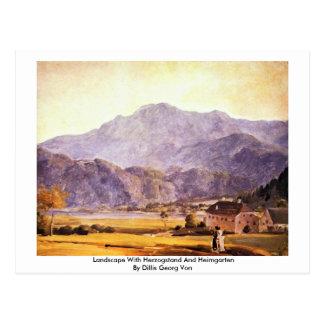 Landscape With Herzogstand And Heimgarten Postcard