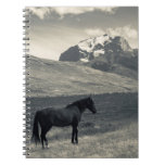 Landscape with horses 2 notebook