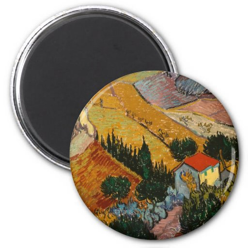 Landscape with House and Plough Fridge Magnet