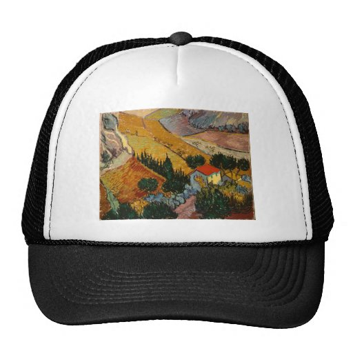 Landscape with House and Plough Trucker Hats