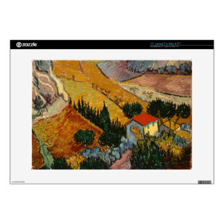 """Landscape with House and Ploughman, 1889 Decals For 15"""" Laptops"""