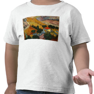 Landscape with House and Ploughman, 1889 T-shirts