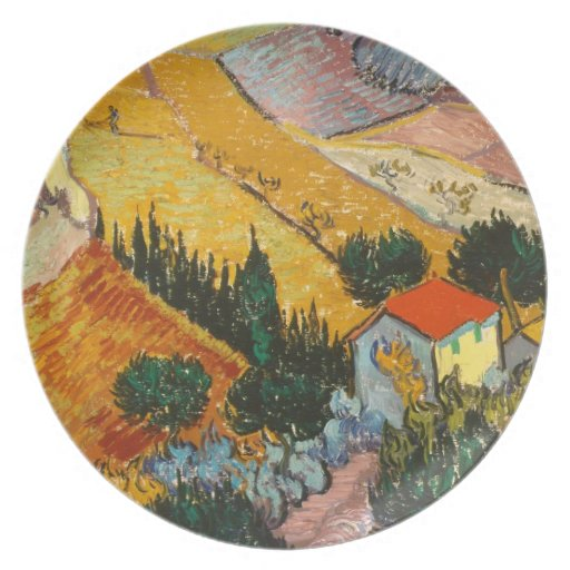 Landscape with House and Ploughman plate
