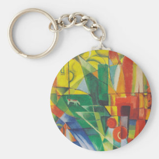 Landscape With House Keychain