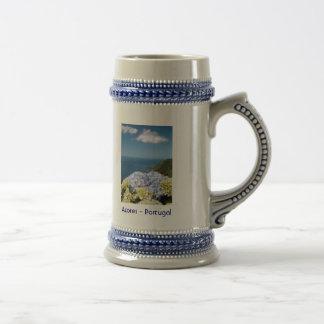 Landscape with hydrangeas 18 oz beer stein