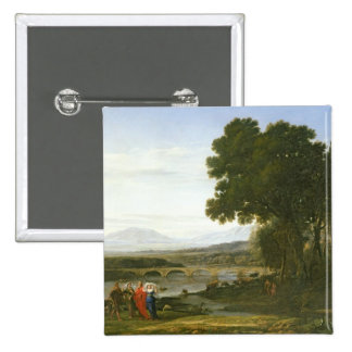 Landscape with Jacob, Laban, and Laban's Pinback Button