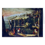 Landscape With Ladies And Knights By Nicolã² Dellâ Greeting Card