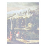 Landscape With Ladies And Knights By Nicolã² Dellâ Letterhead Design