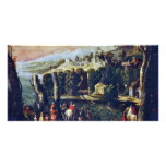 Landscape With Ladies And Knights By Nicolã² Dellâ Photo Card Template