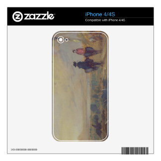 Landscape with Lake and two Figures Riding, previo Skin For iPhone 4S