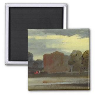 Landscape with Lake (Lake Scene) previously attrib 2 Inch Square Magnet