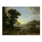 Landscape with Merchants - Claude Lorrain Postcard