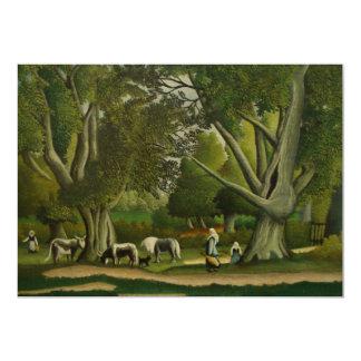 Landscape with Milkmaids by Henri Rousseau Card