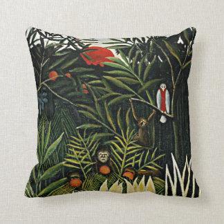 Landscape with Monkeys - Henri Rousseau artwork Pillows