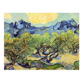 Landscape with olive Trees by Vincent van Gogh Postcard