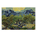 Landscape With Olive Trees By Vincent Van Gogh Print
