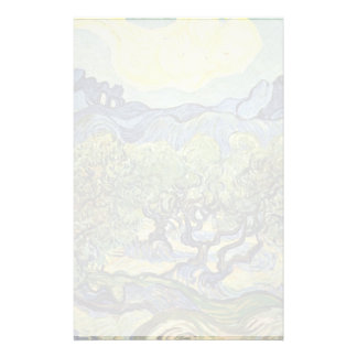 Landscape With Olive Trees By Vincent Van Gogh Stationery Paper
