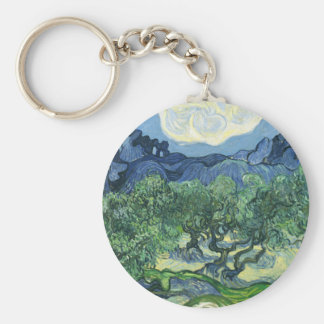 Landscape with Olive Trees, Vincent Van Gogh Keychains