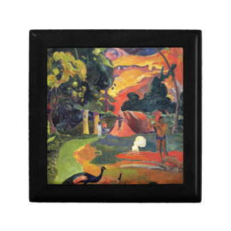 Landscape with peacock gift box