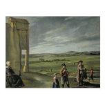 Landscape with Peasants, c.1640 Postcard