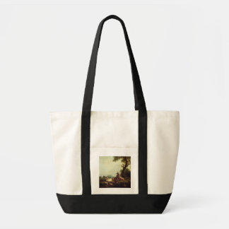 Landscape with Peasants Watching a Herd of Cattle Tote Bag