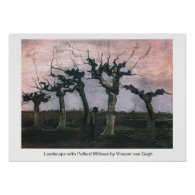 Landscape with Pollard Willows Vincent van Gogh Posters