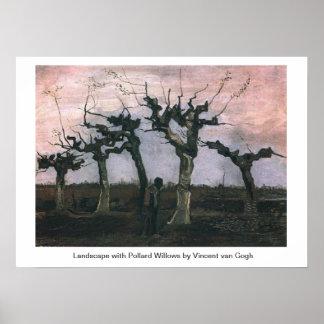 Landscape with Pollard Willows Vincent van Gogh Poster