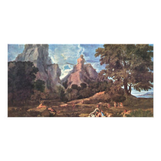 Landscape With Polyphemus By Nicolas Poussin Picture Card
