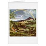 Landscape With Rainbow By Joseph Anton Koch Greeting Card