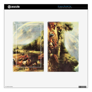 Landscape with Rainbow by Paul Rubens Decals For Kindle Fire
