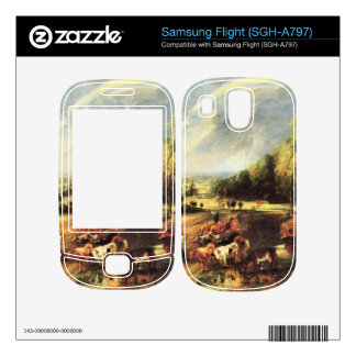 Landscape with Rainbow by Paul Rubens Decals For Samsung Flight