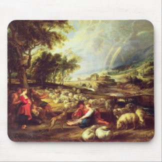 Landscape with Rainbow (oil on canvas) Mouse Pad