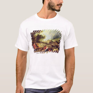 Landscape with Rainbow (oil on canvas) T-Shirt
