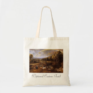 Landscape with Rainbow Tote Bag