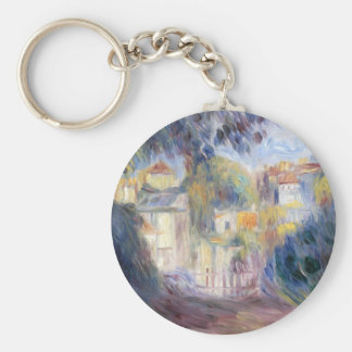 Landscape with Red Roofs by Pierre-Auguste Renoir Keychain
