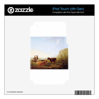 Landscape with resting cows by Jacob van Strij iPod Touch 4G Skins