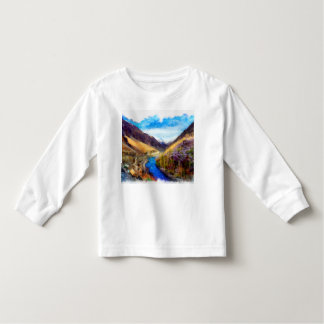 Landscape with river flowing through tshirts