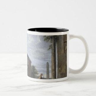 Landscape with Roman Ruins Two-Tone Coffee Mug
