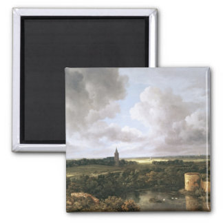 Landscape with Ruined Castle and Church Magnet