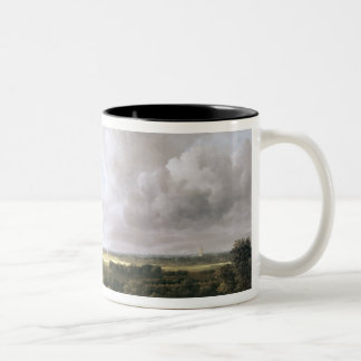 Landscape with Ruined Castle and Church Two-Tone Coffee Mug
