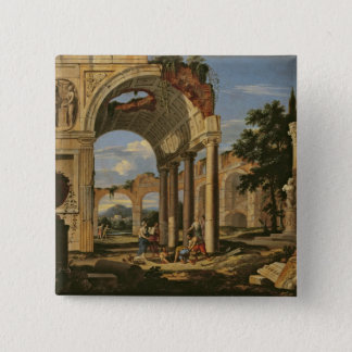 Landscape with Ruins, 1673 Button
