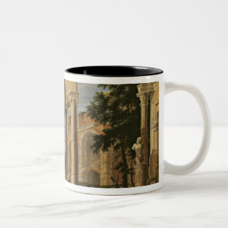 Landscape with Ruins, 1673 Two-Tone Coffee Mug