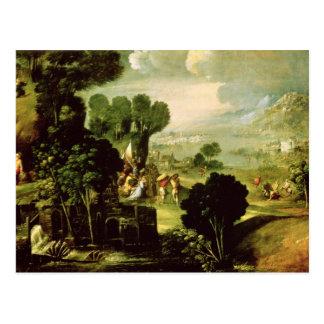 Landscape with Saints, 1520-30 Postcard