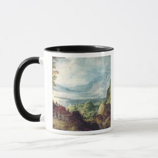 Landscape with Sea and Mountains (oil on canvas) Mug