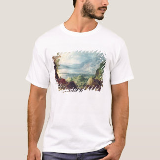 Landscape with Sea and Mountains (oil on canvas) T-Shirt