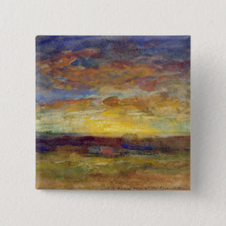 Landscape with Setting Sun Button