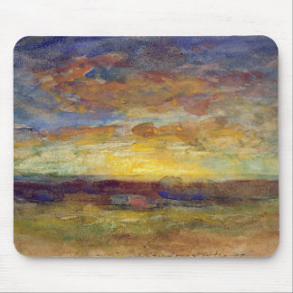 Landscape with Setting Sun Mouse Pad