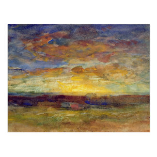 Landscape with Setting Sun Postcard