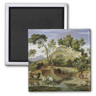 Landscape with Shepherds and Cows Magnet