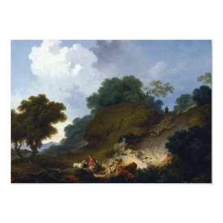 Landscape with Shepherds by Fragonard 5x7 Paper Invitation Card
